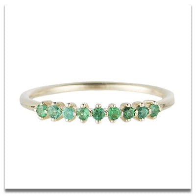 Jennie Kwon Emerald Lace Ring