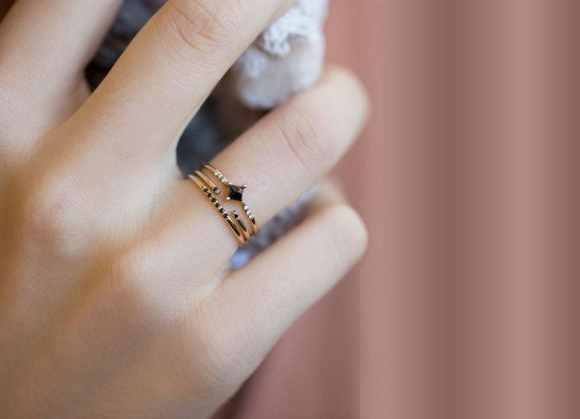 Jennie Kwon black diamond rings available in the UK