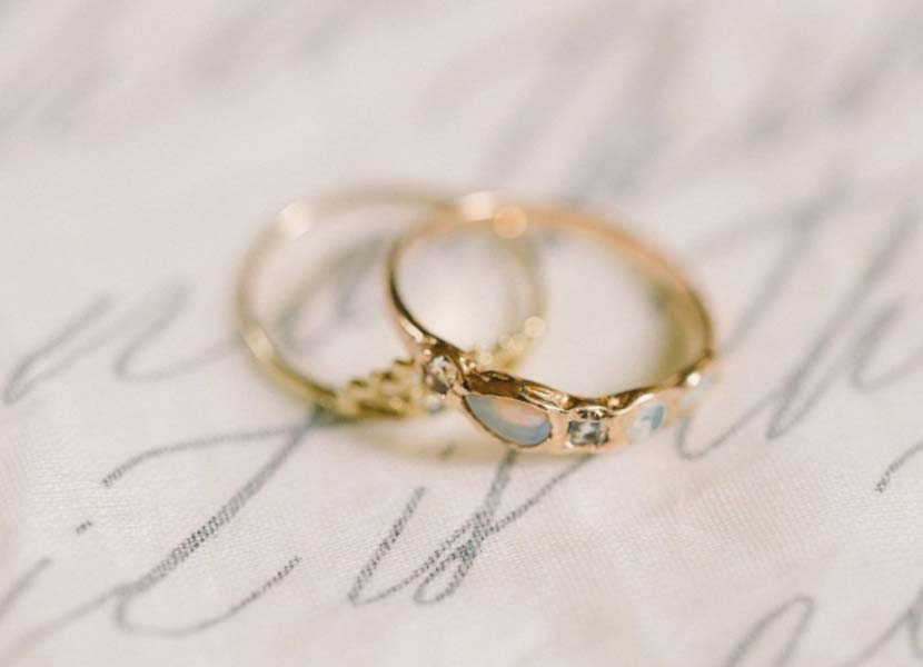 UK traditional wedding anniversary gifts by year - two rings