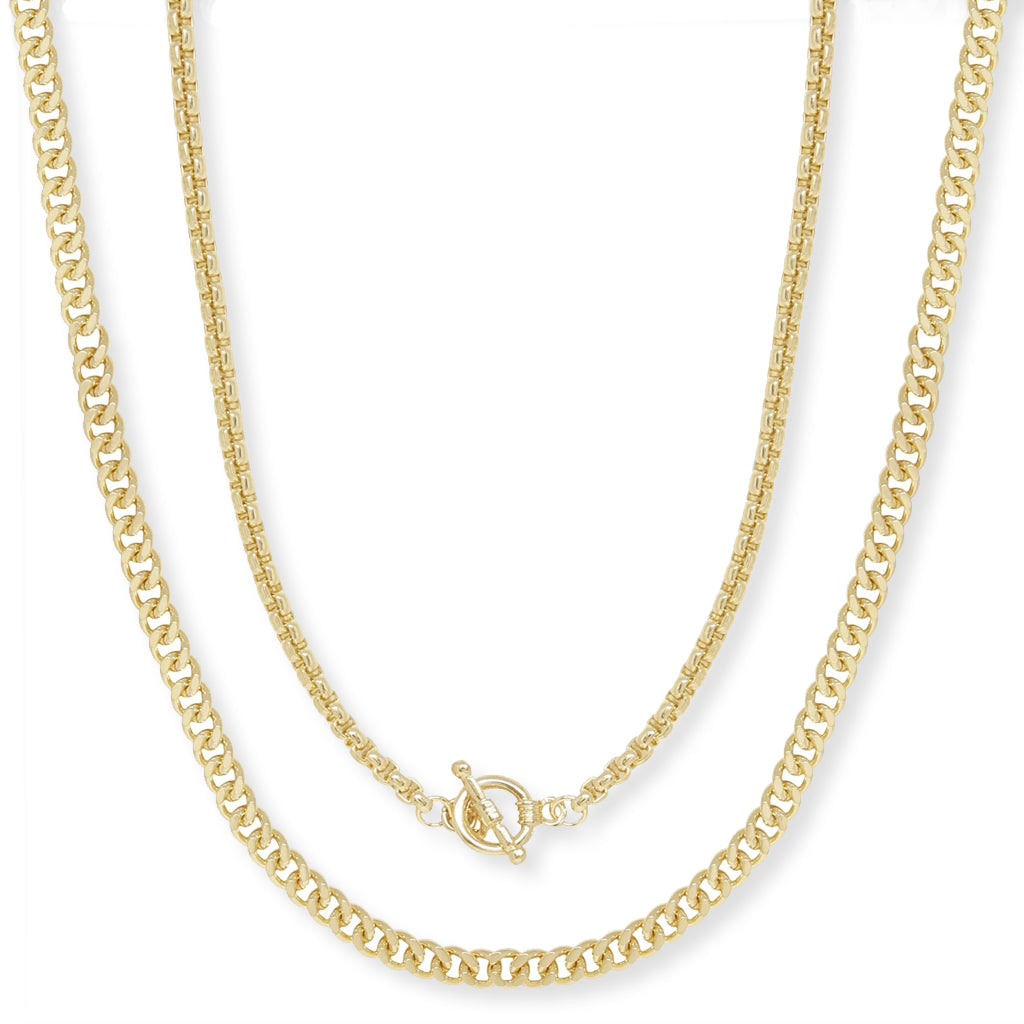 Double Chain Necklace Set