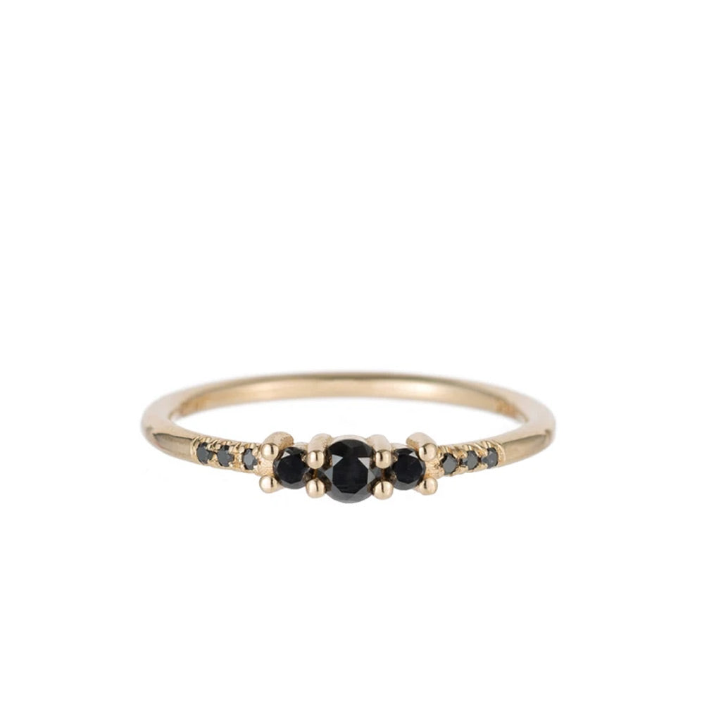 Black Diamond Trio Equilibrium Ring