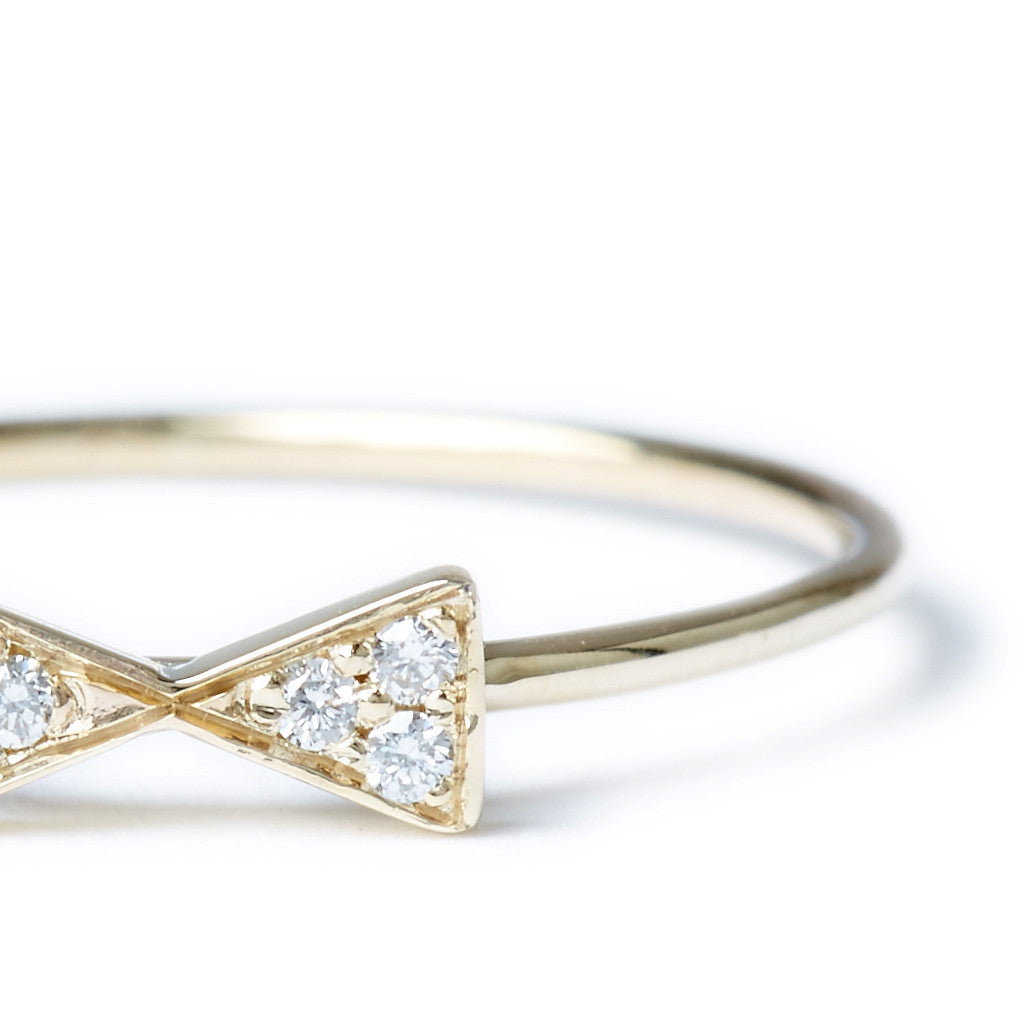 Pave Petite Bow Ring
