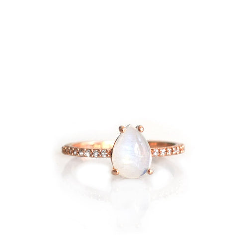Angels Teardrop Ring