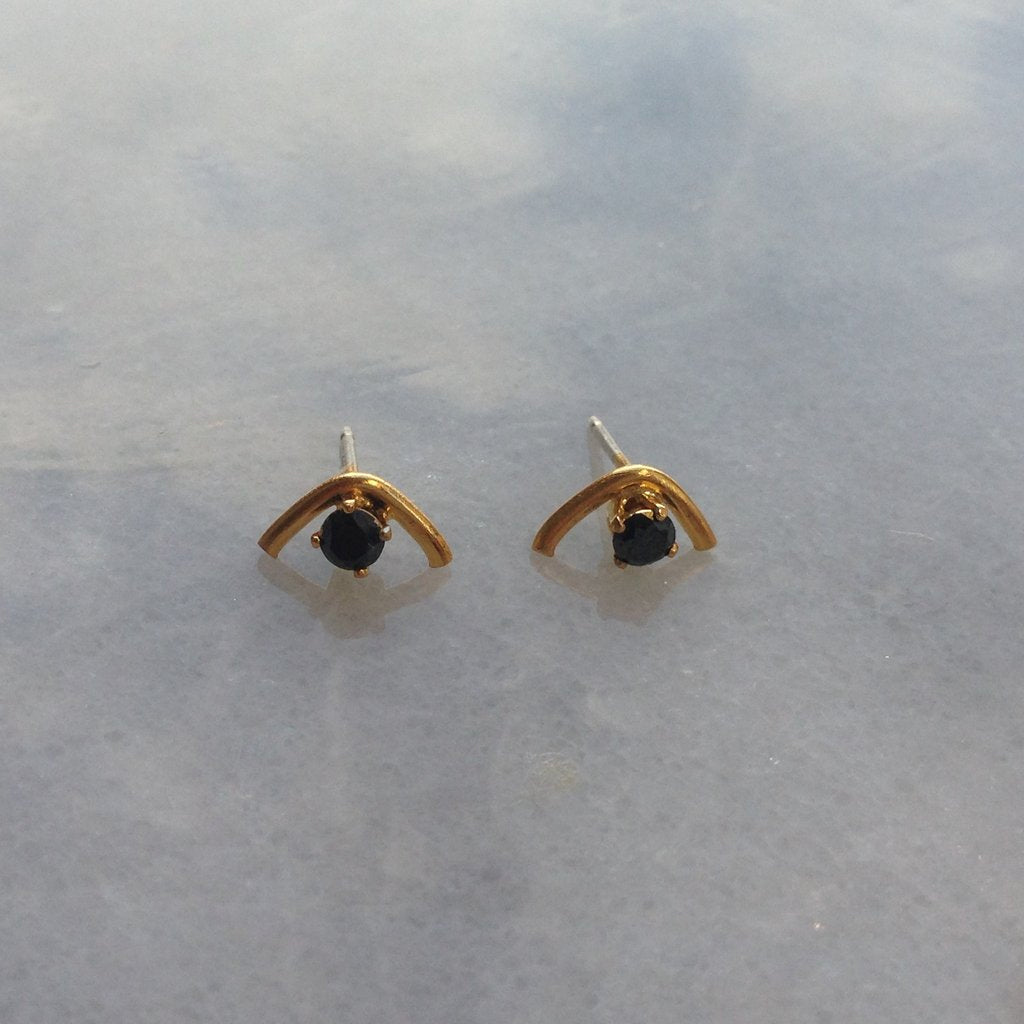 Black Diamond Mini Arc Studs