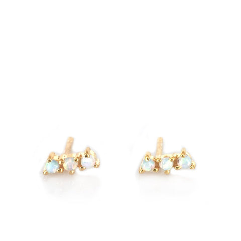 Rose Gold Sweet Pea Studs