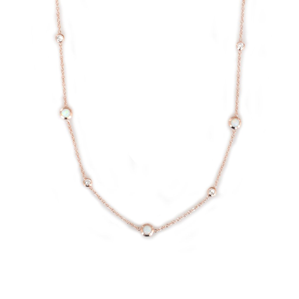 Opal & Diamond Sprinkle Choker