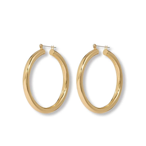 Amalfi Hoops in Gold
