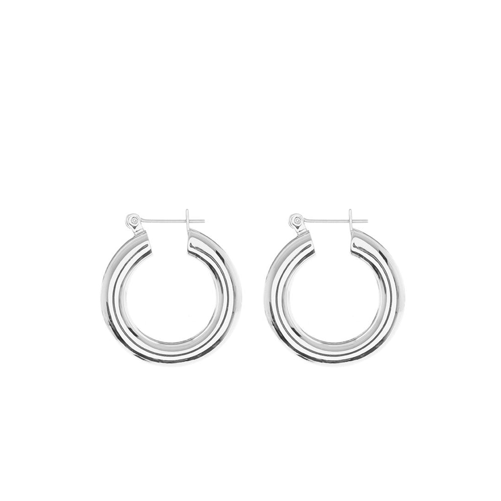 Baby Amalfi Tube Hoops in Silver