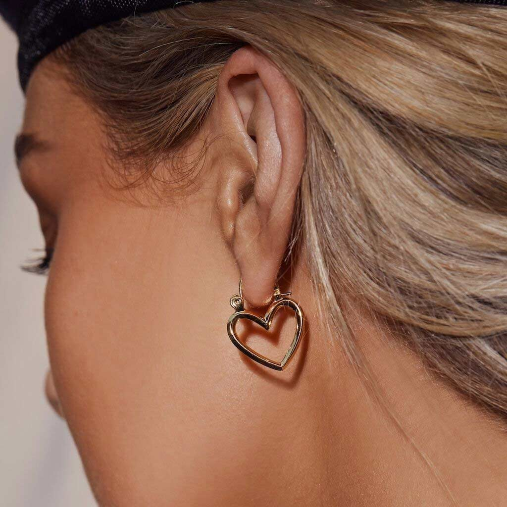 Mini Heartbreaker Hoops in Gold
