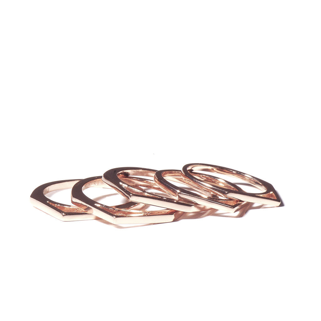 Luv AJ Double Pave Spike Ring in Metallic Copper P0uDFwjP