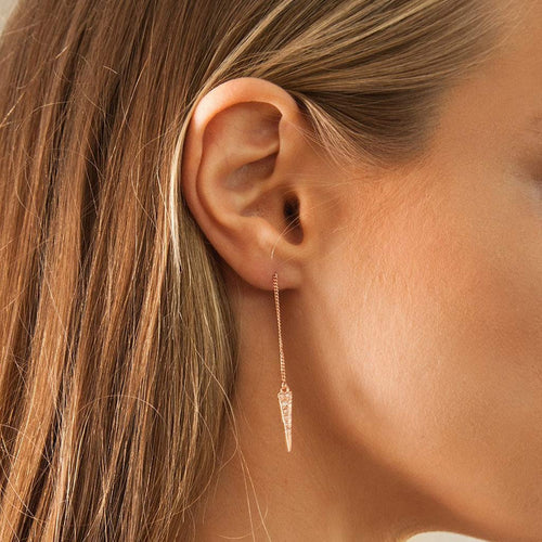 Pavé Spike Thread Earrings