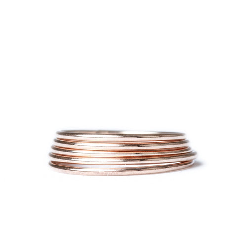 Thin Stacking Ring Set
