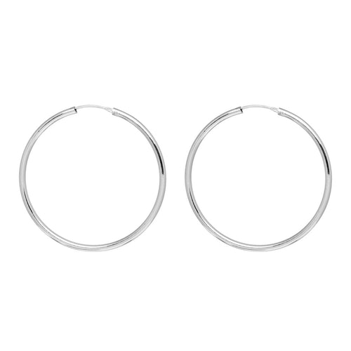 MFP x Caitlin Price Palladium Hoop Earrings