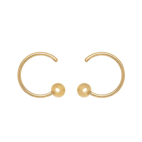 Pierced Curled Earrings