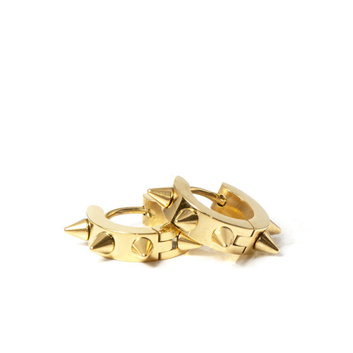 Roxie Spike Hoop Earrings in Gold