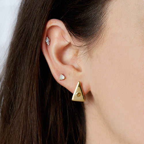 Spike Triangle Earrings