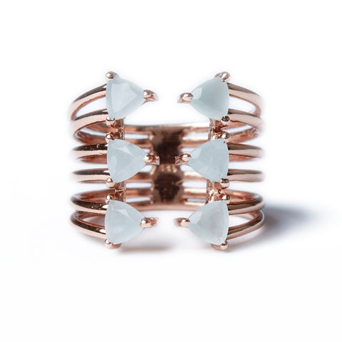 Shark Fin Ring in Rose Gold