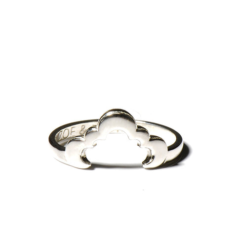 The Wave Dome Ring in Silver