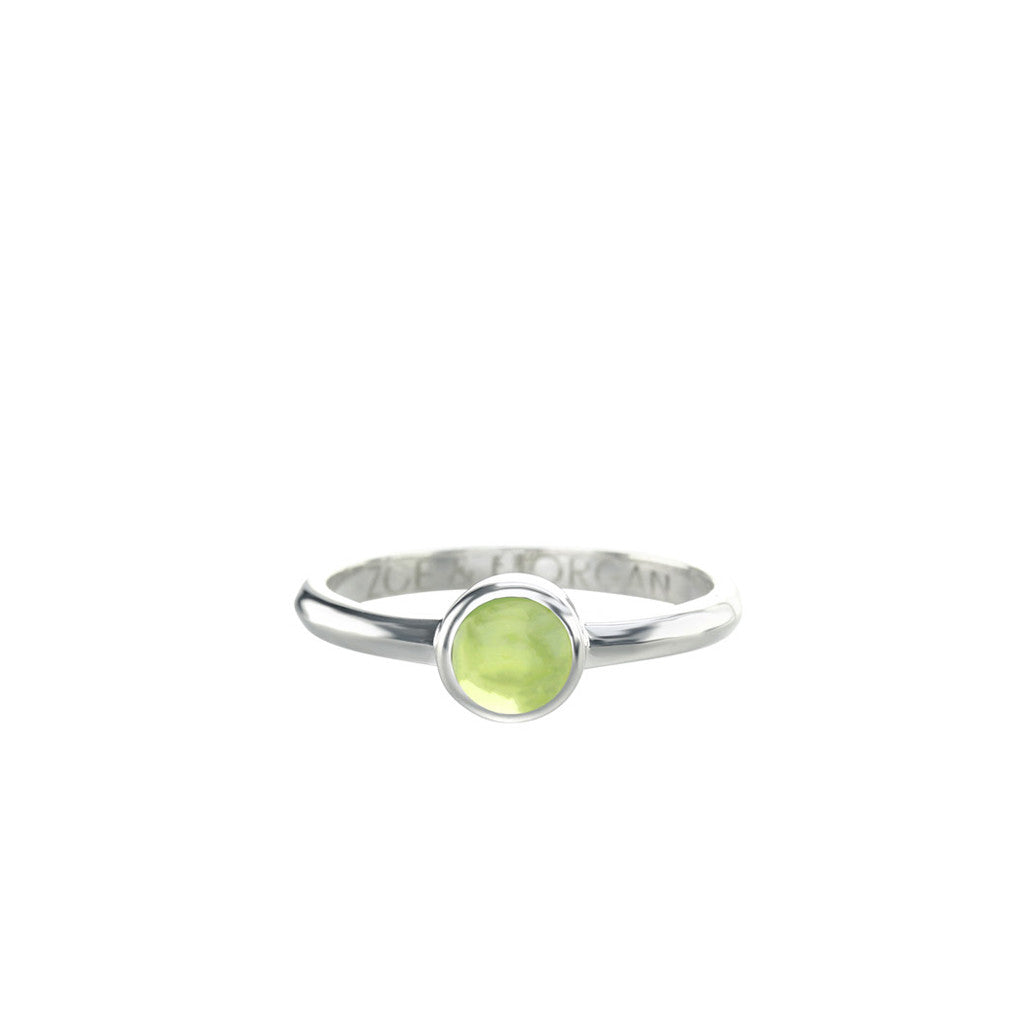 5mm Peridot Cabochon Ring