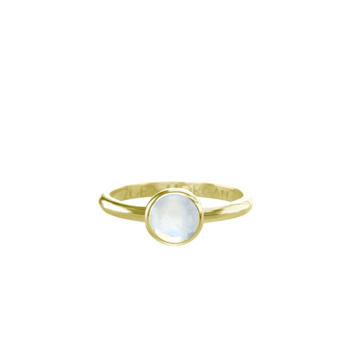 6mm Moonstone Cabochon Ring