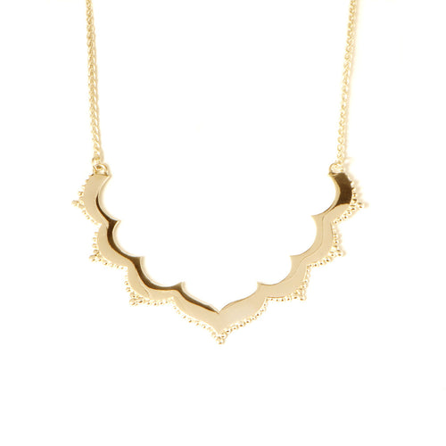 Tangier Small Frame Necklace in Gold