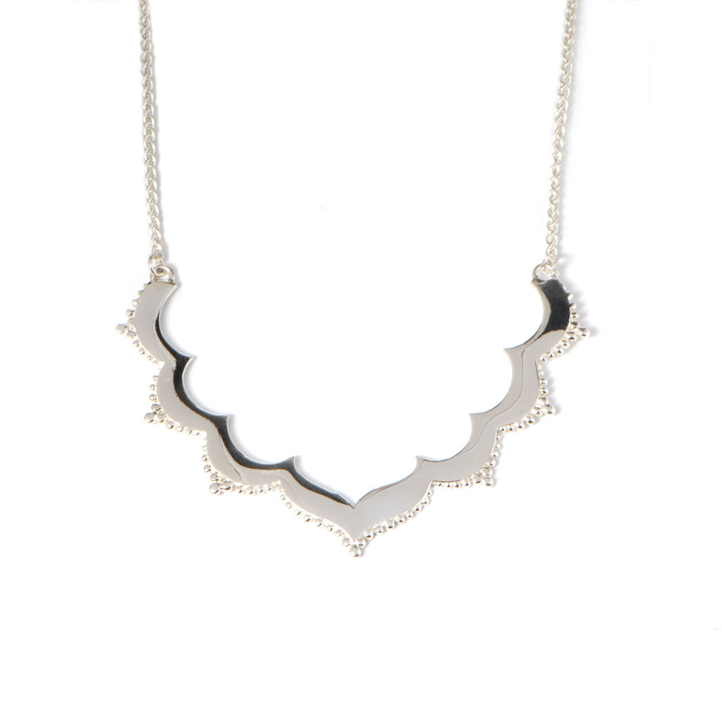 Tangier Small Frame Necklace in Silver
