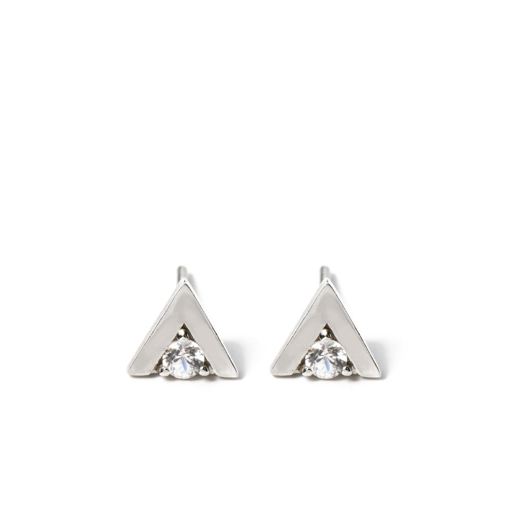 Triangle Stud in Silver