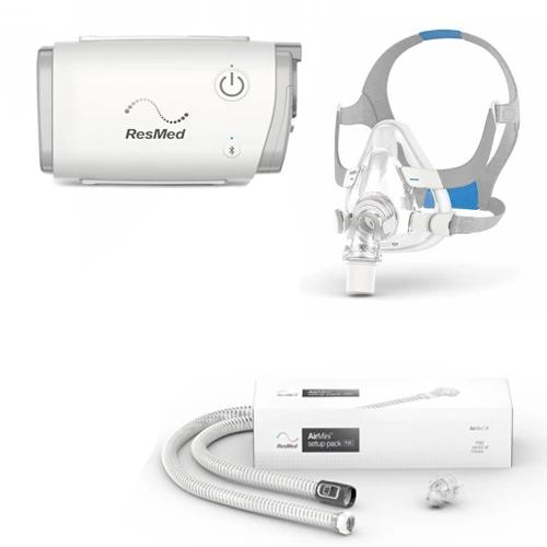 ResMed AirMini™ Auto CPAP with F20 Full Face Mask & Setup Pack Bundle