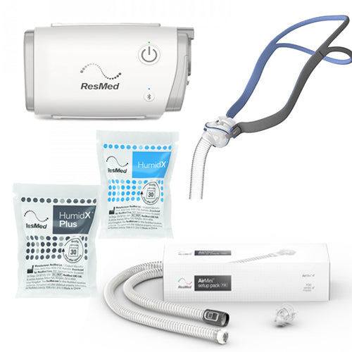 ResMed AirMini™ Auto CPAP with P10 Nasal Pillow Mask & Setup Pack Bundle