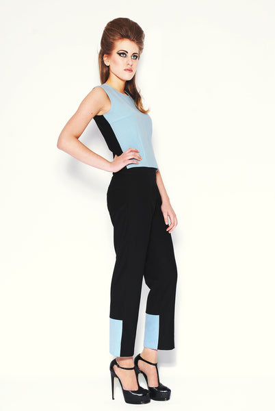 RUDYBOIS Fall Winter 2013 collection Powder Blue Angora/Wool & Black Top