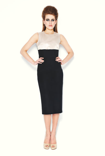 RUDYBOIS Fall Winter 2013 collection Black & Ivory Sleeveless Dress