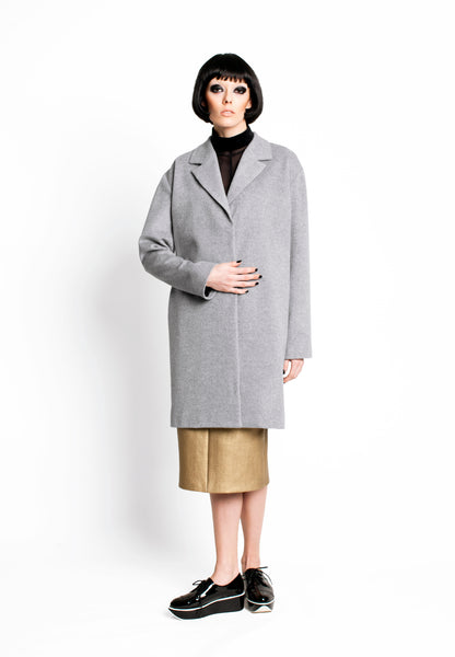 RUDYBOIS Fall Winter 2015 collection GREY VIRGIN WOOL COAT