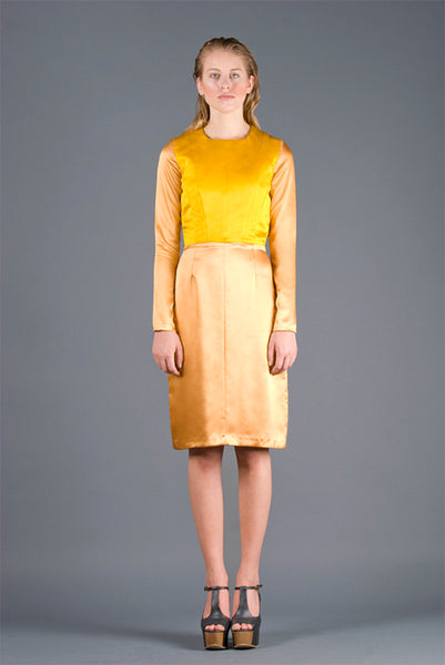 RUDYBOIS Spring Summer 2013 collection YELLOW SILK SHORT DRESS