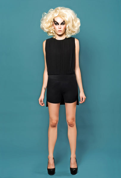 RUDYBOIS Spring Summer 2014 collection Black Silk & Cool Wool Top