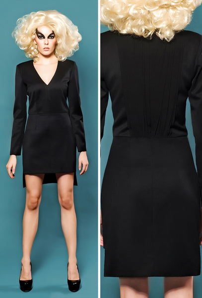 RUDYBOIS Spring Summer 2014 collection Black Silk & Cool Wool Short Dress
