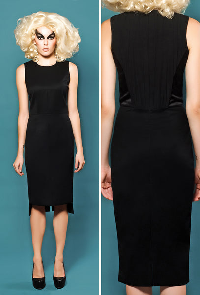 RUDYBOIS Spring Summer 2014 collection Cool Wool Sleeveless Dress & Back Black Silk