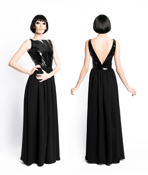 RUDYBOIS Fall Winter 2015 collection Black long silk dress