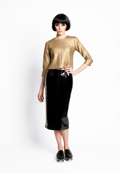 RUDYBOIS Fall Winter 2015 collection GOLD 3/4 SLEEVES TOP