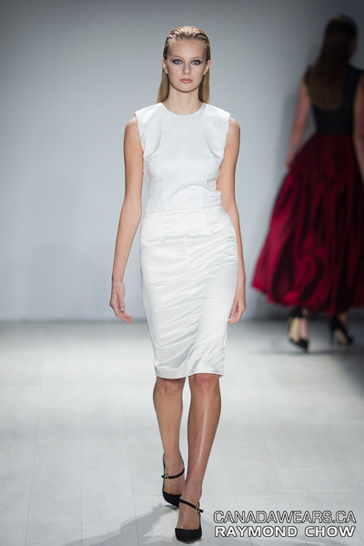 RUDYBOIS Spring Summer 2015 collection WHITE & OFF WHITE SHORT SLEEVELESS DRESS