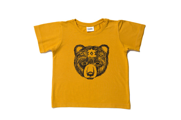 Organic Bamboo/Cotton Ochre Spirit Bear T-Shirt