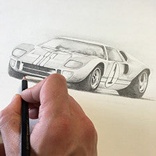 Competition Time - Win this fantastic GT40 drawing!