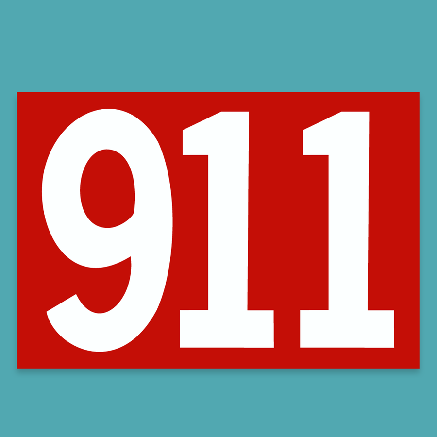911 Number Sticker