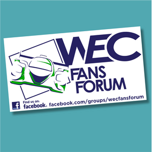 WEC Fans Forum Sticker (Printed to white)
