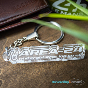 White Rabbit Racing Area24 Keyring - White Rabbit Racing - StickeredUp4LeMans