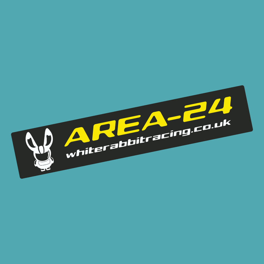 Area 24 Sticker - White Rabbit Racing - StickeredUp4LeMans
