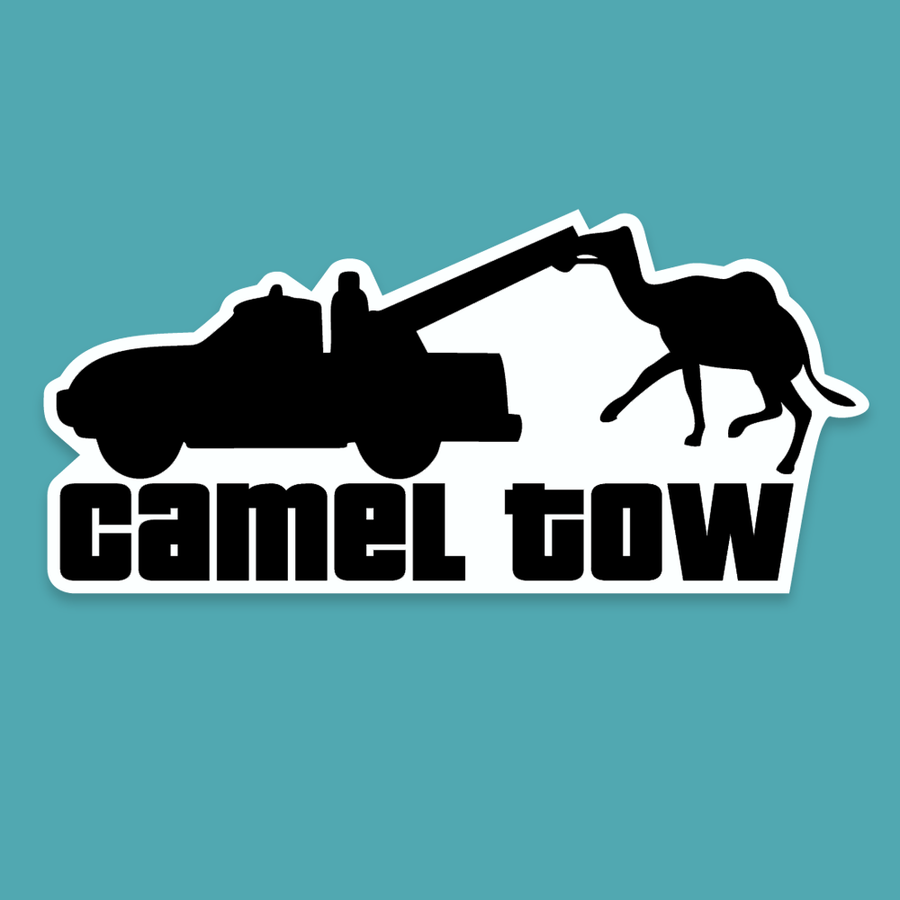Camel Tow - Silly Stuff - StickeredUp4LeMans