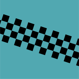 Chequered Stripe - Black on Clear