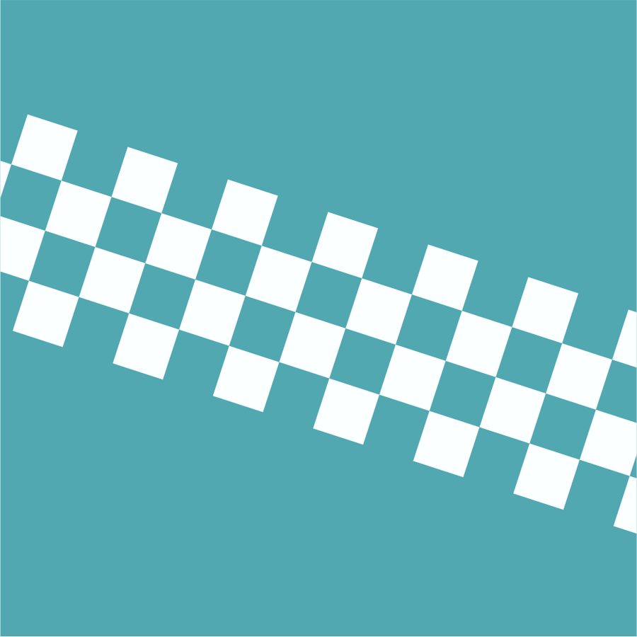 Chequered Stripe - White on Clear