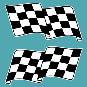 Chequered Flag Stickers - Lima Mike Two Four - StickeredUp4LeMans