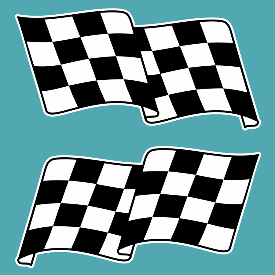 Chequered Flag Stickers